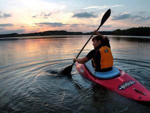 Kayaking at The Beach Club Resort.