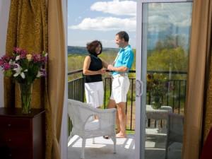 Balcony view at La Tourelle Resort & Spa.