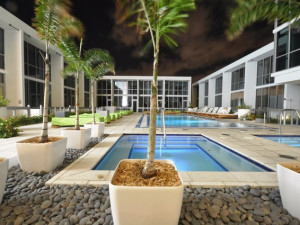 Outdoor pool at Casa Moderna Miami.
