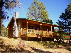 Cabin Exterior at Retreat at Angel Fire