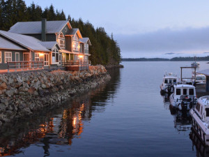 Exterior view of Shearwater Resort & Marina.