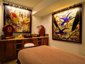 Spa massage room at Kessler Canyon