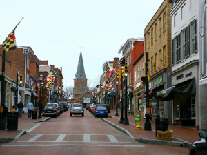 Historic downtown Annapolis near Holiday Inn Express Annapolis.