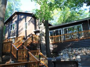 Cabin exterior at White Birch Village Resort.