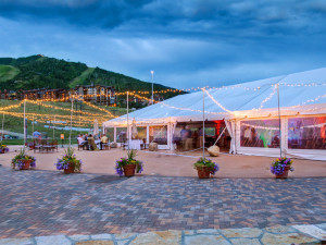Wedding tent at Torian Plum Resort.