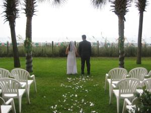 Wedding ceremony at Ocean Reef Resort.
