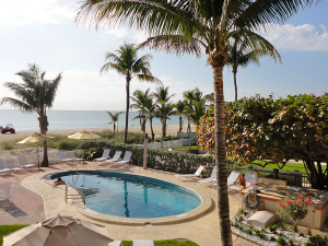 Outdoor pool at Souters Resort On The Ocean.
