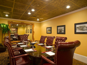 Meeting room at Casa Monica Hotel.