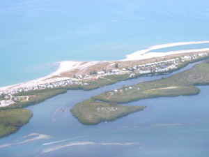 Aerial view of island at Palm Island Resort.