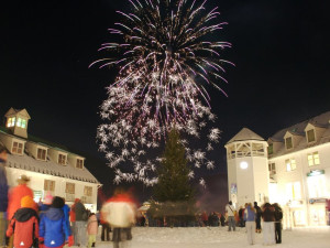 Fireworks at Black Bear Lodge.