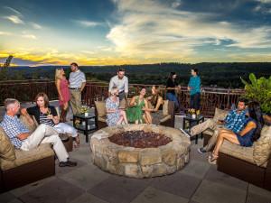 Family gathering at Crystal Springs Resort.