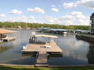Lake dock at Lakeview Resort.
