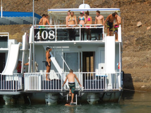House boat at Lake Don Pedro.