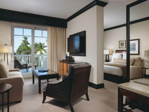 Guest room at The Seagate Hotel & Spa.