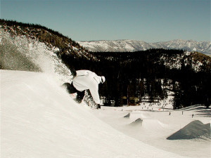 Snowboarding near Seasons 4 Condominium Rentals.