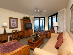 Living Room at Pointe Estero Beach Resort