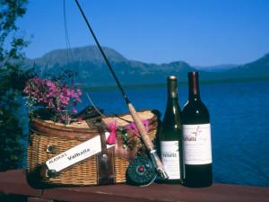 Romantic picnic at Valhalla Lodge.