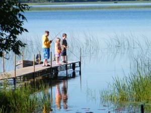 Fishing fun at Cedarwild Resort.