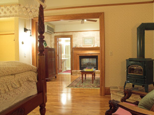 Guest suite at White Lace Inn.