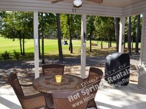 Rental patio at Hot Springs Village Rentals.