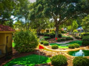 Mini golf near Springmaid Beach Resort.