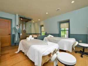 Spa massage tables at Bar Harbor Inn & Spa.