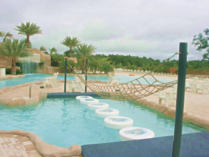 Outdoor pool at Gulf Beach Rentals.