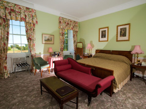 Guest room at Culloden House.