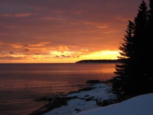 Sunset at Cascade Lodge.