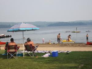 The beach at Sandy Lane Resort.