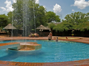 Manyane Resort pool at Golden Leopard Resorts.