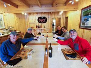 Dining at Alaska's Kodiak Island Resort.