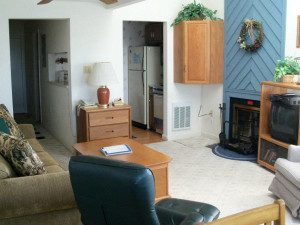 Vacation rental living room at Sugar Ski and Country Club.