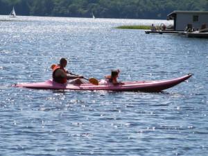 Kayaking at Patterson Kaye Resort.