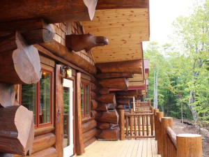 Cabin porch at Inn on Lac Labelle.