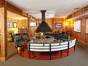 Interior view of Chateau Aprés Lodge.