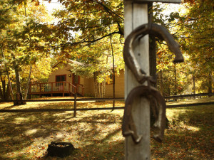 Horseshoes at Lost Lake Lodge.