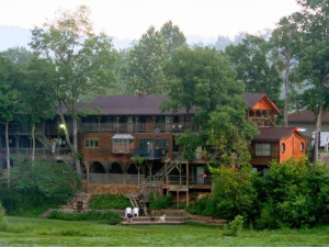 Exterior view of River's Edge Resort.