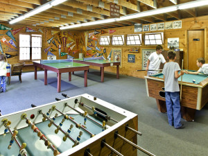 Game room at Colorado Trails Ranch.
