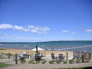 The beach at Tamarack Lodge.