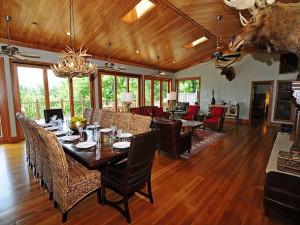 Rental living room at Chalet Village.