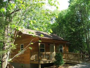 Cabin exterior at Big Pine Retreat.
