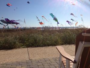 Kites on the beach at Shell Island Resort.