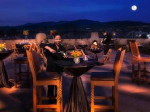 Dining on the patio at Eldorado Hotel.