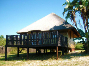 Exterior view of Sodwana Bay Lodge.