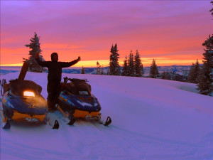 Snowmobiling at Steamboat Vacation Rentals.