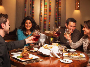 Dining at Eldorado Hotel.