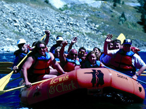 River rafting near Jackson Hole Lodge.