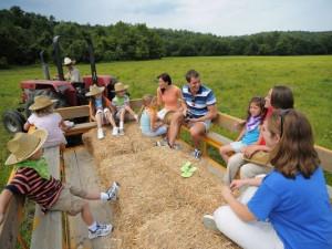 Hay rides at French Lick Resort.