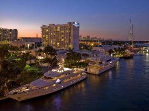 Marina at Hilton Fort Lauderdale Marina.